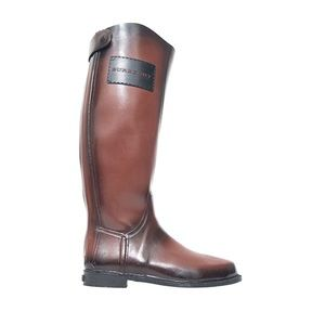Burberry equestrian riding boots